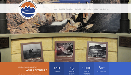 New Website Created for River of Time Museum