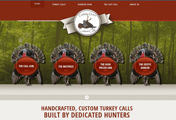 New website for Gobbler Down Custom Calls