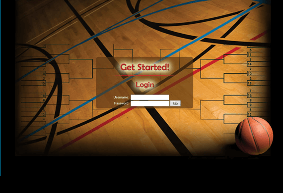 Screenshot of custom programming for a March Madness Basketball Game