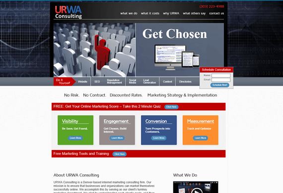 Screenshot of Custom e-Commerce Website for URWA Consulting